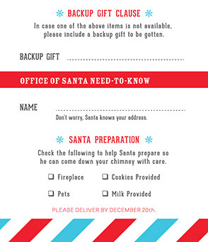 office of santa official holiday wish list